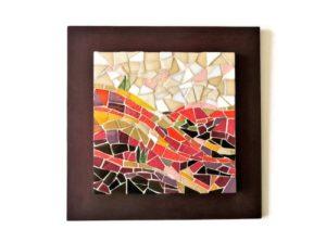 Tableau en mosaique terre de Sienne