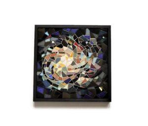 tableau en mosaique voyage hommage à thomas pesquet