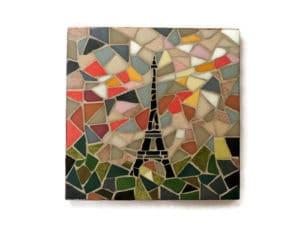 Dessous de plat en mosaïque tour Eiffel