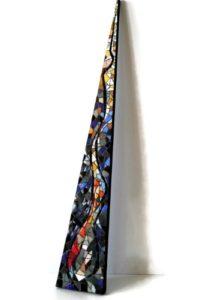 sculpture triangle mosaique