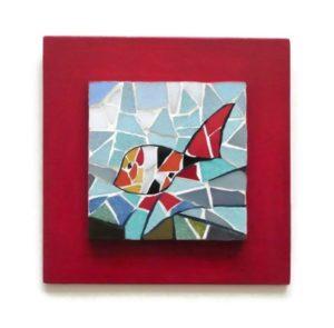 mosaique rouge poisson