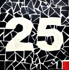 Plaque de numéro de maison en grès cérame