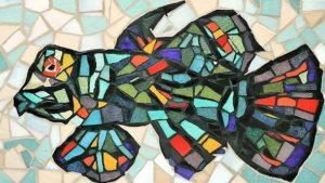 Dessous de plat poisson coloré